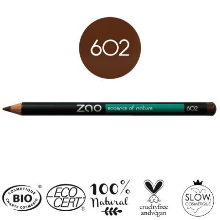 Crayons   Brun foncé   Zao Makeup