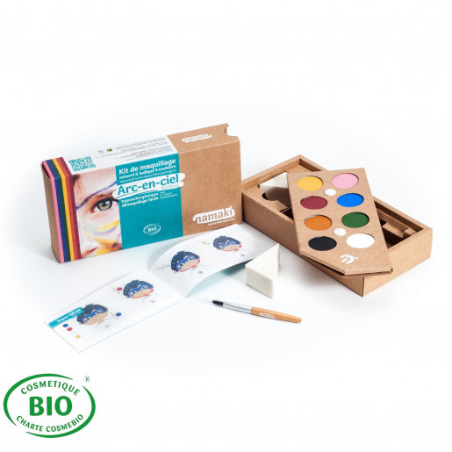 Kit de maquillages 8 couleurs certifié BIO| Arc-en-Ciel | Namaki