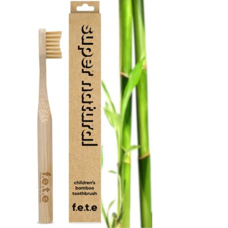 Brosse à dents en bambou enfant | brun | nature| F.E.T.E | FETE